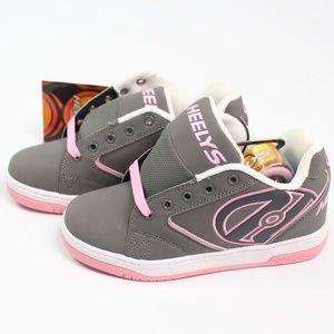 Heelys Propel 2.0 gray pink roller shoes sneakers